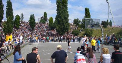 Basketball i Mauer Park <br>- tæt på lejlighederne