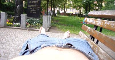 Berlin kan også nydes fra vandret position